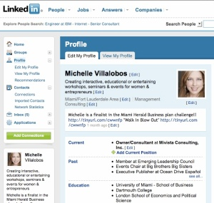 Michelle Villalobos LinkedIn Profile