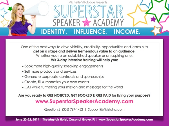 SSA - Superstar Speaker Academy - Flyer