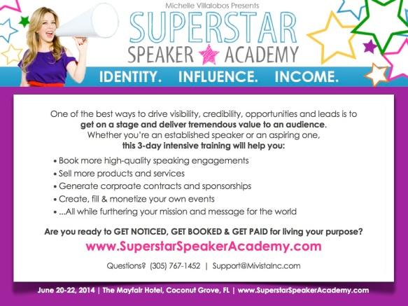 SSA - Superstar Speaker Academy - Flyer